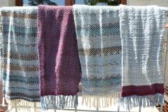 Sockenwolle-Schals